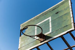 Basketball hoop old Royalty Free Stock Images