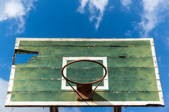 Basketball hoop old and deteriorate Royalty Free Stock Photography