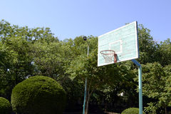 Basketball hoop. Old basketball hoop in the park Royalty Free Stock Image