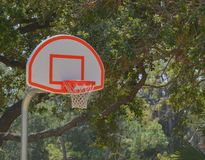 Basketball hoop on outside court in Largo Florida.  stock photography