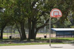 Basketball hoop on outside court in Largo Florida.  stock images