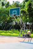 Basketball hoop. In the park Royalty Free Stock Image