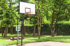 Basketball hoop in a park Stock Photo