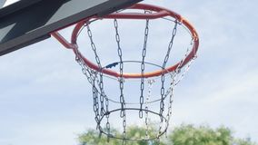 basketball hoop close up stock video footage