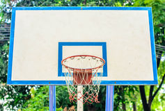 Basketball hoop in the park,  focus basketball hoop Royalty Free Stock Photography