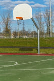 Basketball hoop in park Stock Photography