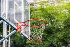 Basketball hoop in the park Stock Photos