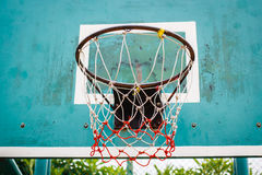 Basketball hoop in the park. Royalty Free Stock Photography