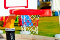 A basketball hoop at the playground Stock Image