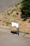 Basketball hoop in playground outdoor. Urban city scene Royalty Free Stock Photo