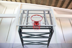 Basketball hoop in the public arena Stock Image