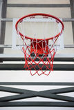 Basketball hoop in the public arena Stock Images