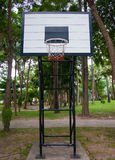 Basketball hoop in public park Royalty Free Stock Photo