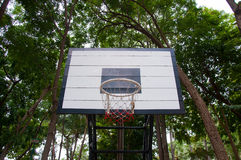 Basketball hoop in public park Royalty Free Stock Images