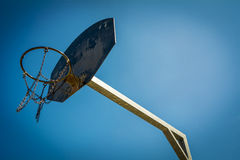 Basketball hoop at public park Stock Images