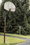 Basketball Hoop Rural Indiana Stock Image