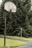 Basketball Hoop Rural Indiana Stock Image