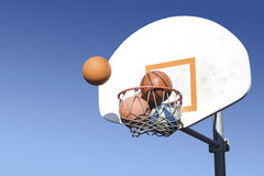 Crowded Basketball Hoop_A1 Stock Photography