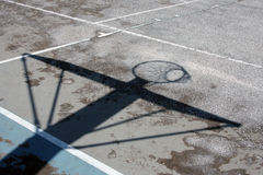 Basketball Hoop Shadow Royalty Free Stock Photography