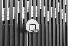 Basketball hoop shot a black on white effect. Sample Stock Photos