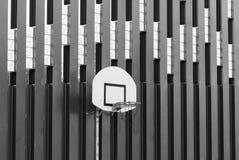 Basketball hoop shot a black on white effect Stock Photos