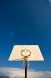 Basketball hoop with sky Royalty Free Stock Photography