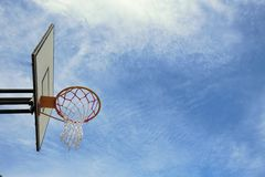 Basketball. Hoop and sky background Royalty Free Stock Photo