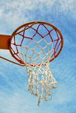 Basketball. Hoop and sky background Stock Photo