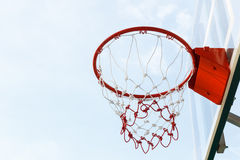 Basketball hoop with sky Royalty Free Stock Photo