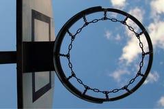 Basketball hoop and sky Stock Image