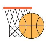 Basketball hoop sport basket vector illustration. Stock Photography