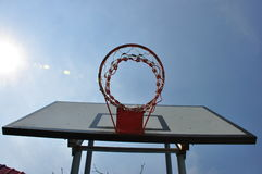 Basketball hoop. Sport day basketball in school Royalty Free Stock Photography