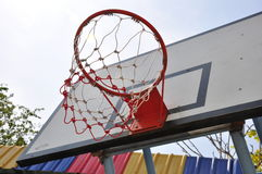 Basketball hoop. Sport day basketball in school Royalty Free Stock Photo