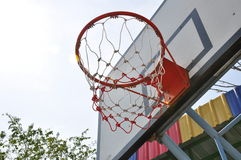 Basketball hoop. Sport day basketball in school Royalty Free Stock Image