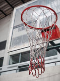 Basketball Hoop in Sport Hall Royalty Free Stock Photo