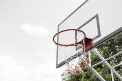 Basketball hoop stand Stock Image
