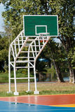 Basketball hoop stand at playground Royalty Free Stock Photos