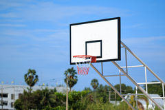 Basketball hoop stand at playground Royalty Free Stock Image