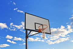Basketball hoop in the street Royalty Free Stock Image