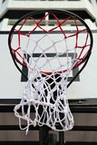 Basketball hoop. At  street court Royalty Free Stock Images
