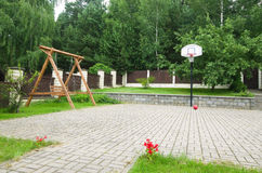 Basketball hoop summer Stock Images