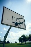 Basketball hoop in the sun Stock Photography