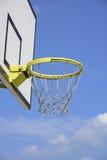 Basketball hoop under the sky Stock Photos