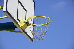 Basketball hoop under the sky Stock Image
