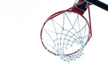 Basketball Hoop Underneath Royalty Free Stock Photography