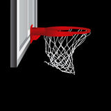 Basketball hoop vector Royalty Free Stock Photos