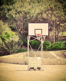 Basketball hoop in a vintage playground Royalty Free Stock Photography