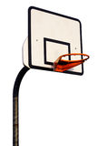 Basketball hoop on white Royalty Free Stock Image