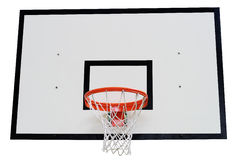 Basketball hoop on white Stock Photos