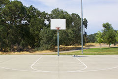 Basketball Hoop With White Backboard and Court Stock Photos